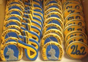 Boston Marathon Cookies